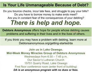 Mid-Week Money Miracles @ Our Savior's Lutheran Church | Portland | Oregon | United States